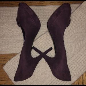 3bac83774c Louis Vuitton Chelsea Aubergine Peep Toe Pumps!!💕